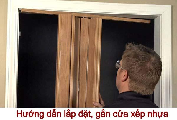 hướng dẫn cách lắp đặt, gắn cửa xếp nhựa nhà vệ sinh
