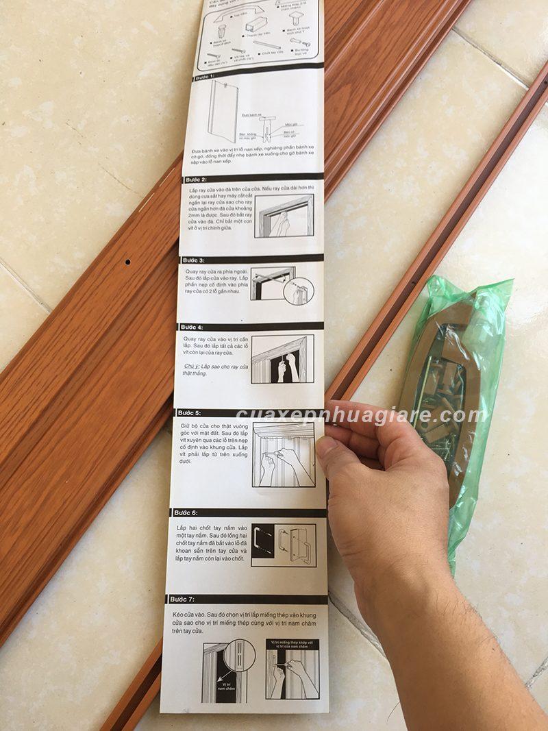 hướng dẫn cách lắp đặt cửa xếp nhựa nhà vệ sinh, phòng tắm chi tiết