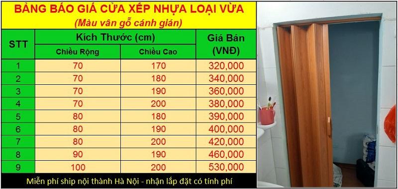 giá cửa xếp nhựa nhà vệ sinh giá rẻ tại hà nội