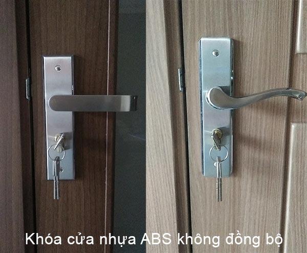 khóa cửa việt tiệp lắp cho cửa nhựa ABS Hàn Quốc