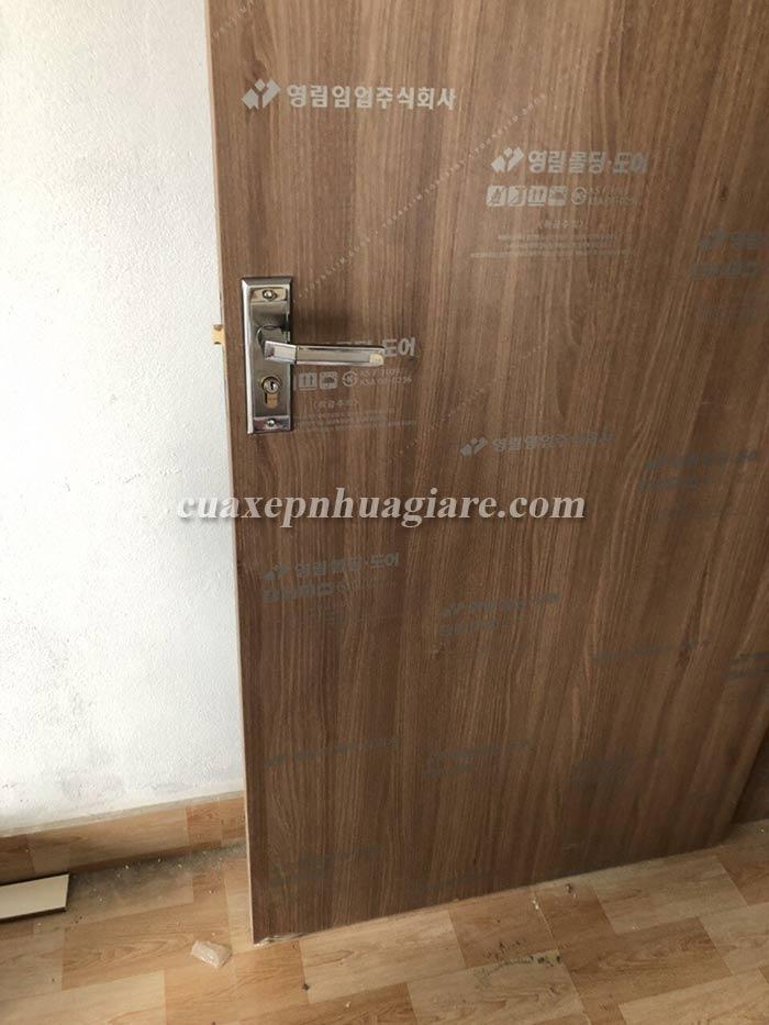 mẫu cửa nhựa giả gỗ ABS hàn quốc cho khách sạn, nhà nghỉ - cửa thông phòng