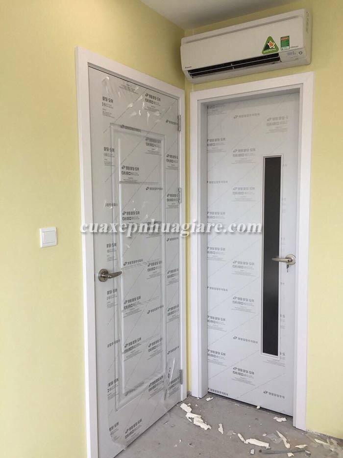mẫu cửa nhựa giả gỗ abs hàn quốc màu trắng