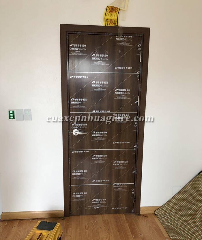 mẫu cửa nhựa giả gỗ abs hàn quốc