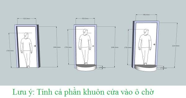 cửa nhà vệ sinh nên để kích thước bao nhiêu