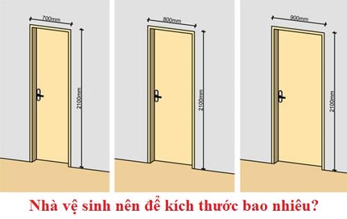 kích thước cửa nhà vệ sinh bao nhiêu là hợp lý