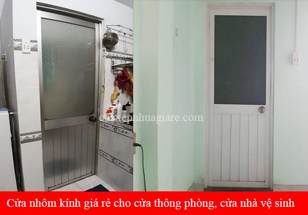 cửa nhôm giá rẻ cho nhà vệ sinh