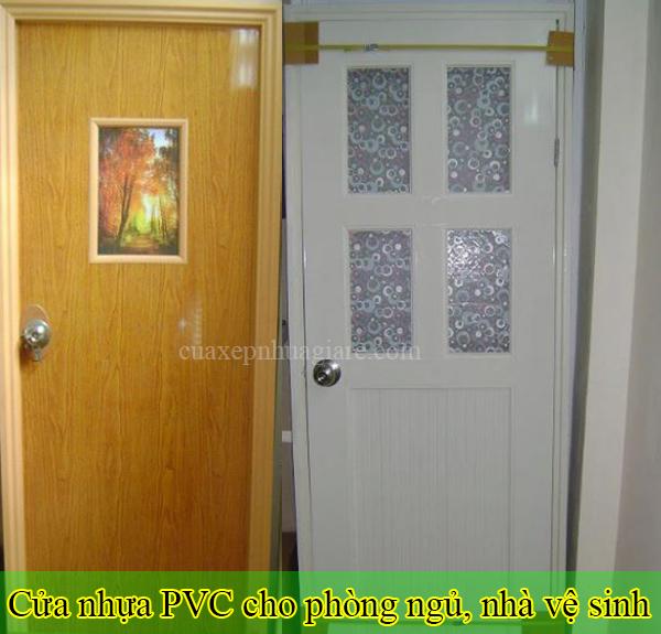 cửa nhựa pvc giá rẻ cho cửa thông phòng, cửa nhà vệ sinh