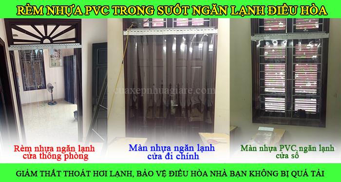 giá màn nhựa pvc ngăn lạnh điều hòa hà nội