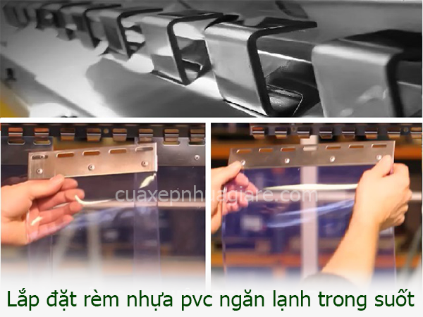 màn nhựa ngăn lạnh chắn điều hòa trong suốt