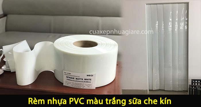 màn nhựa pvc màu trắng sữa ngăn lạnh điều hòa
