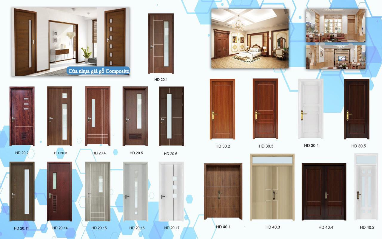 mẫu cửa nhựa composite giả gỗ đẹp