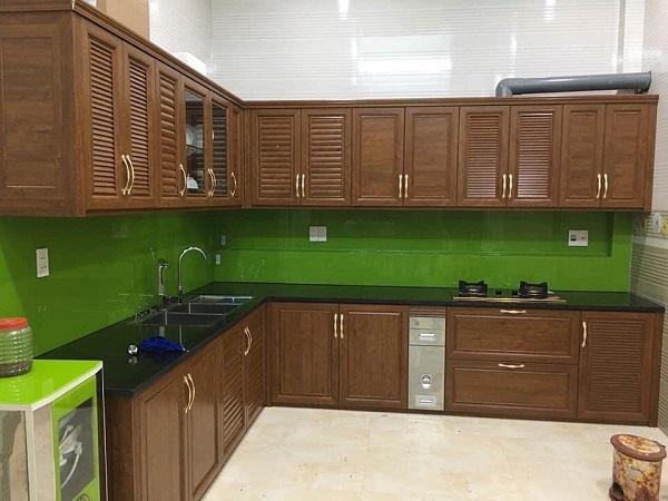 bán tủ bếp treo tường nhôm hệ omega tại hà nội