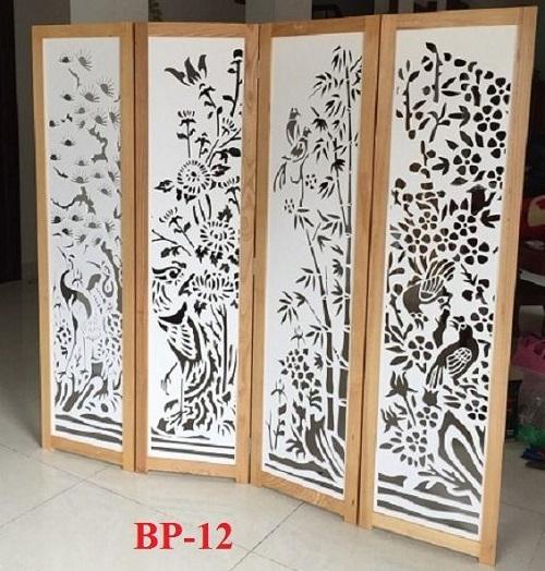 bình phong gỗ chắn cửa