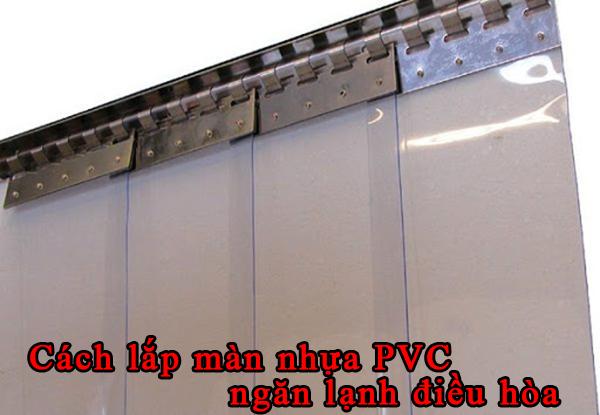 cách treo màn nhựa pvc ngăn lạnh