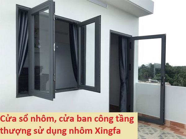 cửa sổ nhôm kính xingfa