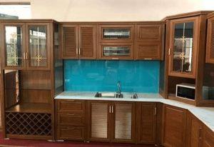 giá tủ bếp nhôm hệ omega tại hà nội