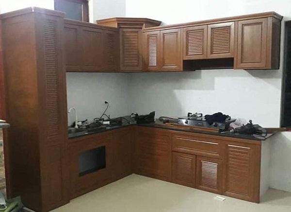 lắp đặt tủ bếp nhôm omega như nào