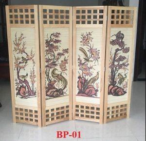 mẫu bình phong gỗ đẹp giá rẻ