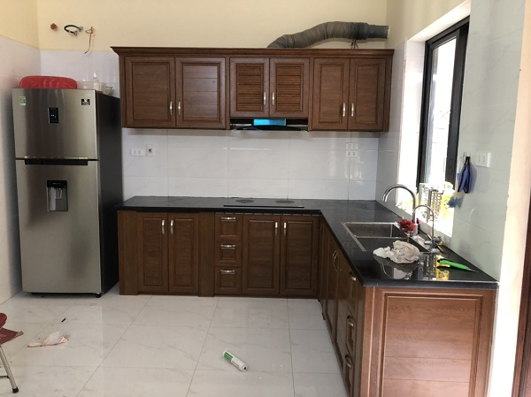 tủ bếp nhôm hệ omega bền đẹp giá rẻ