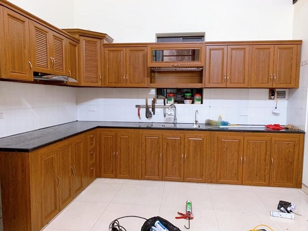 tủ bếp nhôm omega hà nội