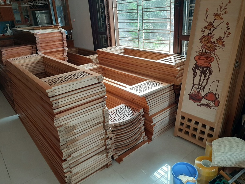 xưởng sản xuất bình phong gỗ hà nội