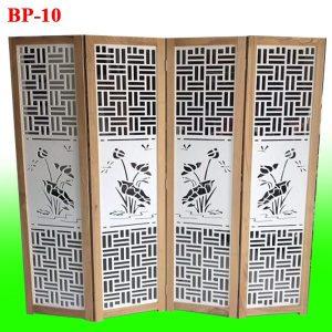 bình phong gỗ CNC hoa sen chuồn chuồn