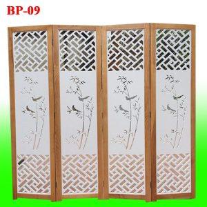 bình phong gỗ CNC trúc triện cực đẹp