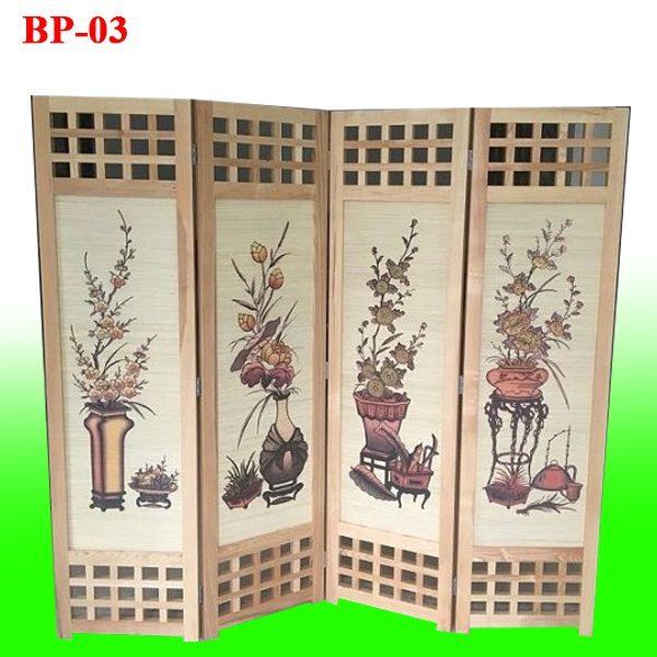 chuyên bán bình phong gỗ BP03