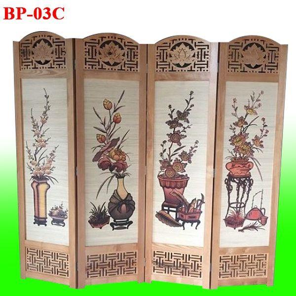 giá bình phong gỗ BP03C bao nhiêu tiền