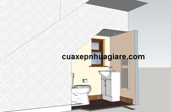 bản thiết kế nhà vệ sinh dưới gầm cầu thang đẹp