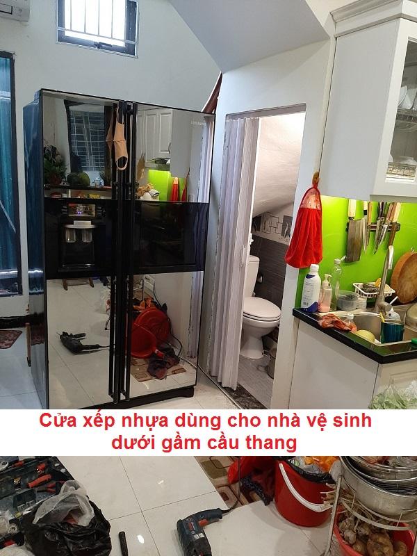 mẫu cửa nhà vệ sinh dưới gầm cầu thang đẹp và giá rẻ