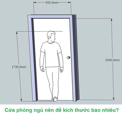 cửa phòng ngủ nên để kích thước bao nhiêu
