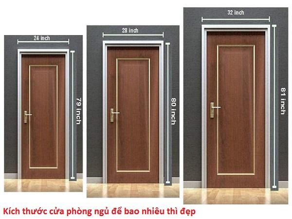 kích thước cửa phòng ngủ để bao nhiêu