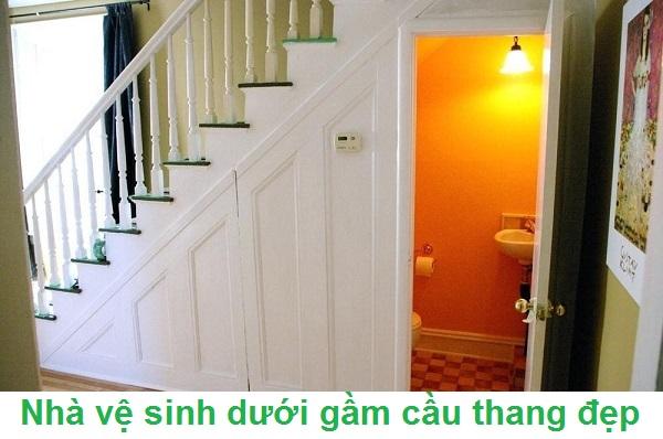 kích thước nhà vệ sinh dưới gầm cầu thang bao nhiêu