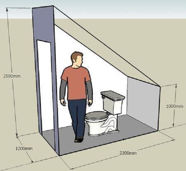 có nên làm nhà vệ sinh dưới gầm cầu thang không
