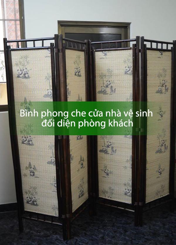 bình phong che chắn cửa nhà vệ sinh