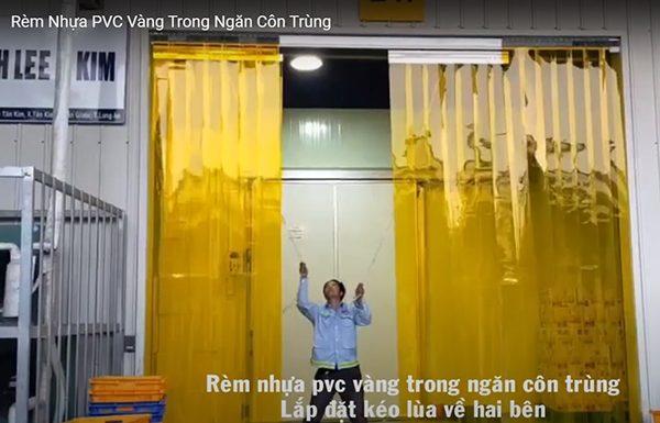 rèm nhựa kéo ngang - màn nhựa kéo ngang