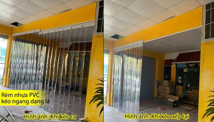 rèm nhựa PVC kéo xếp tại hà nội
